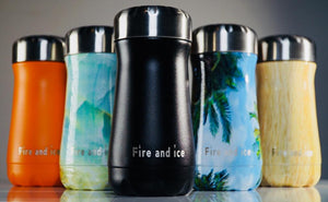 Bamboo - Fire and Ice bottles. Reusable bottle. BPA free. cool designs
