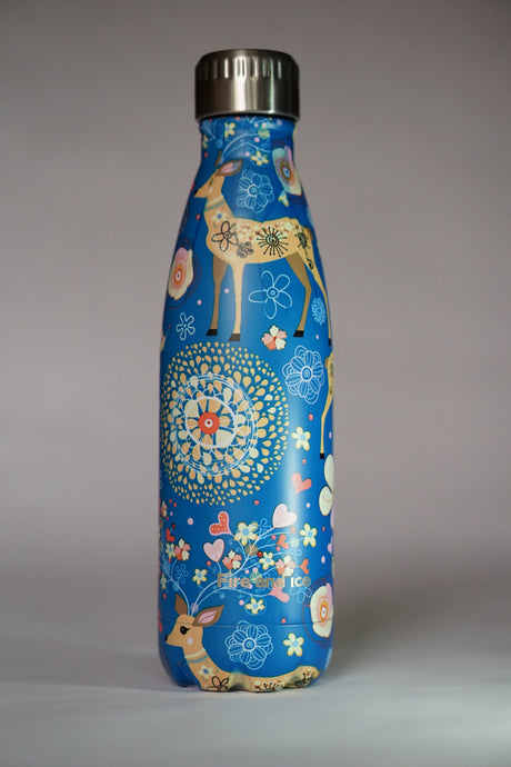 Blue Reindeer - Fire and Ice bottles. Reusable bottle. BPA free. cool designs