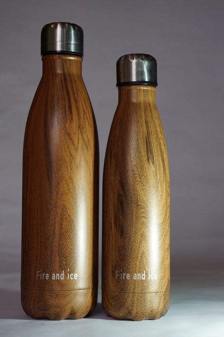 Mighty Oak - Fire and Ice bottles. Reusable bottle. BPA free. cool designs