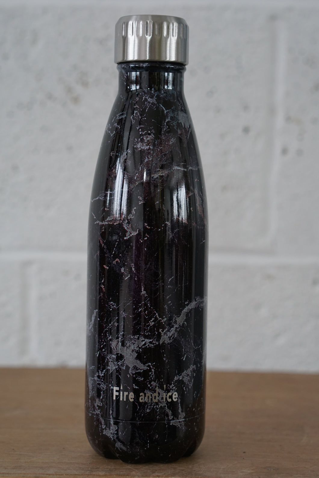Black  Marble - Fire and Ice bottles. Reusable bottle. BPA free. cool designs