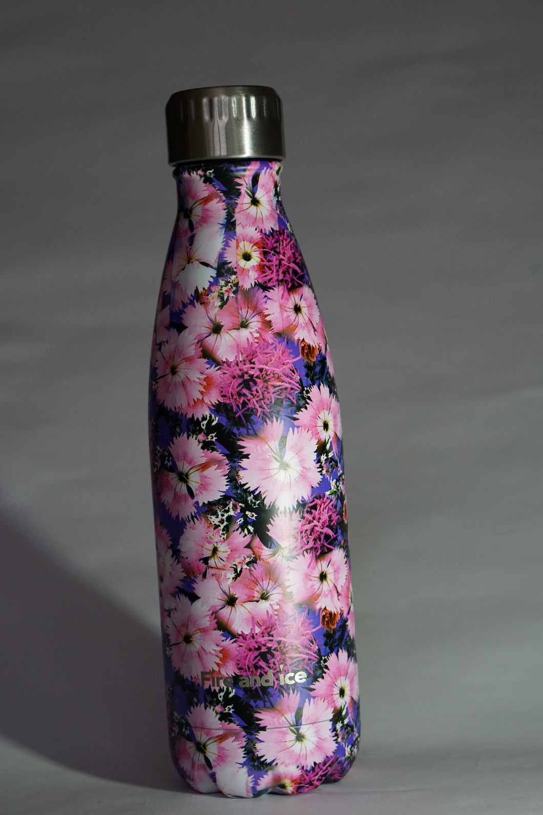 Pink Petals - Fire and Ice bottles. Reusable bottle. BPA free. cool designs