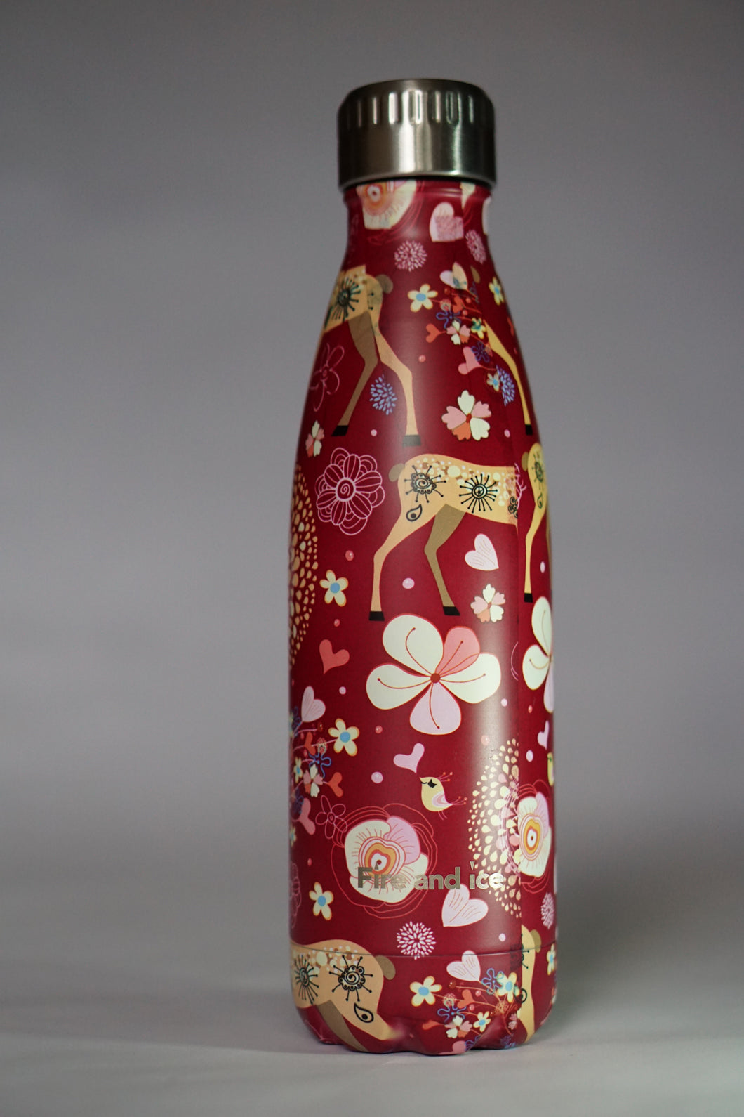 Red Reindeer - Fire and Ice bottles. Reusable bottle. BPA free. cool designs