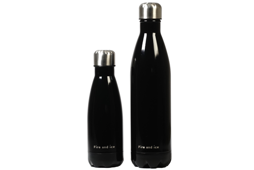Black Beauty - Fire and Ice bottles. Reusable bottle. BPA free. cool designs