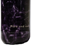 In the Violet Air. - Fire and Ice bottles. Reusable bottle. BPA free. cool designs