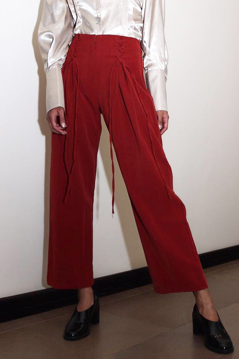 Burnt Orange Corset Pants