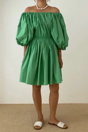 Green Voluminous Dress