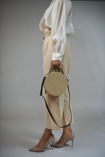 Basket Round Shoulder Bag