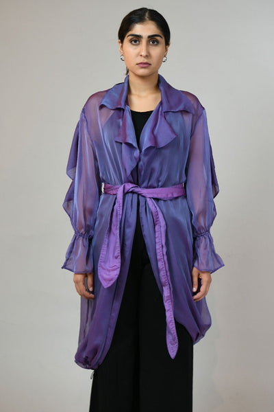 Lavender Sheer Trench