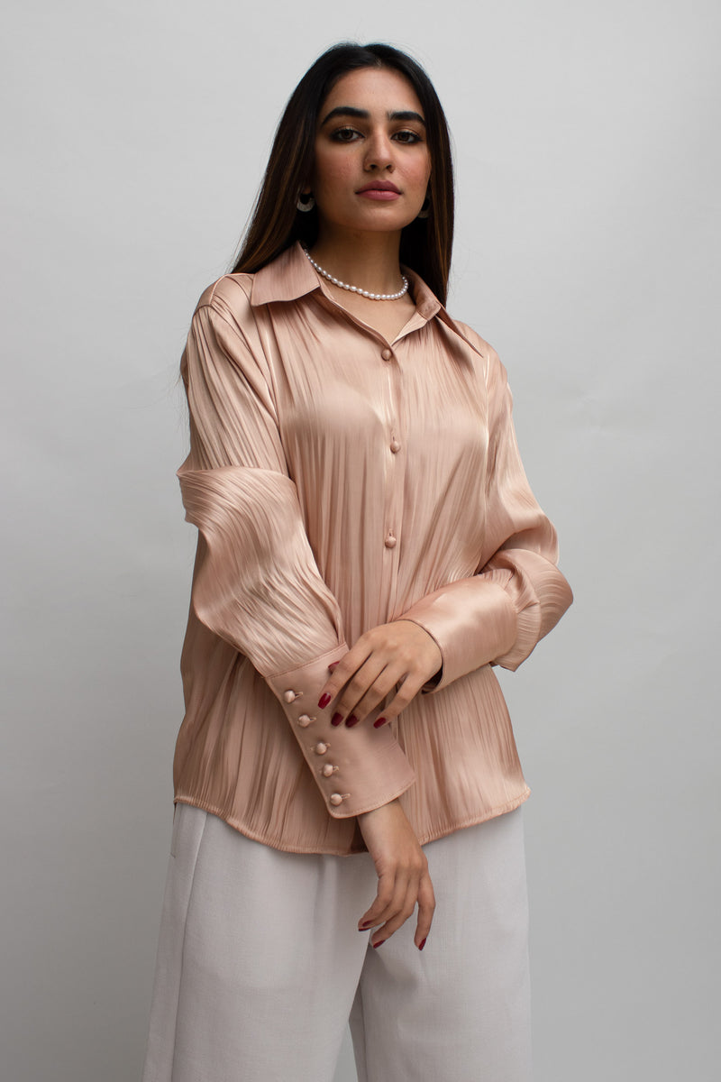 Rose Gold Shiny Blouse