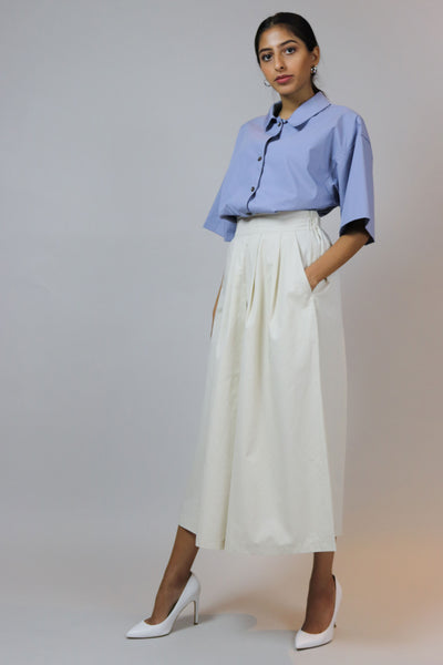 Cream Casual Culotte Pants