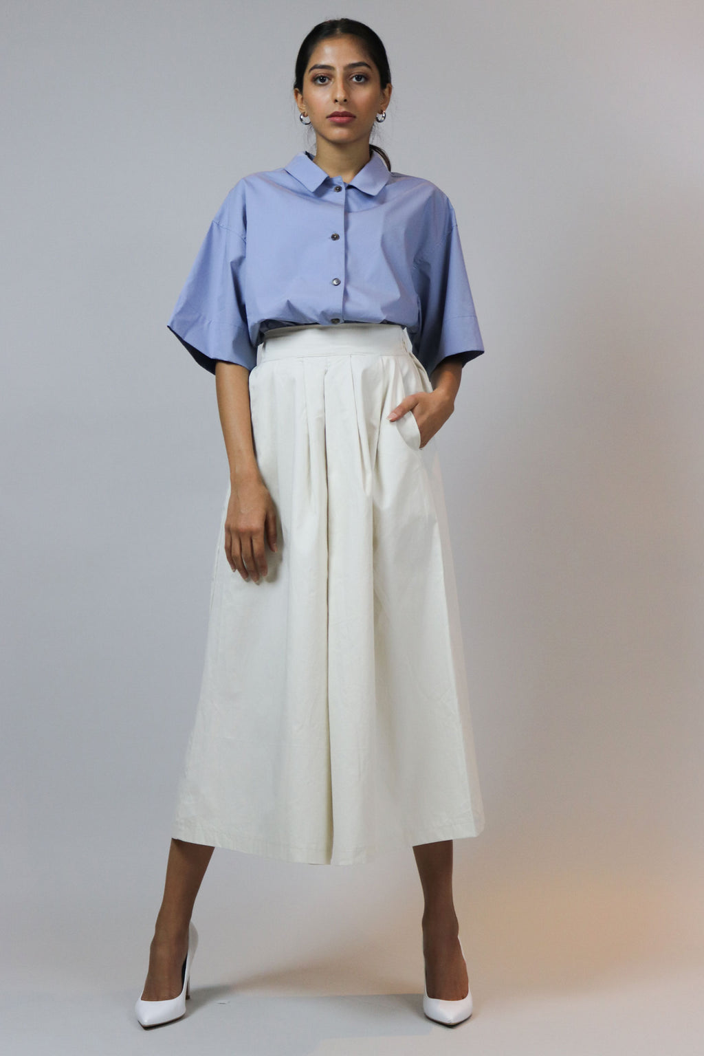 WANTS Cream Casual Culotte Pants