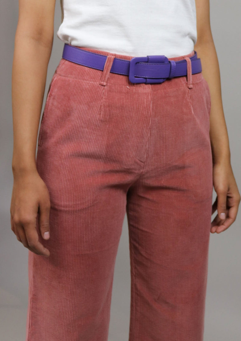 Purple Vegan Leather Belt