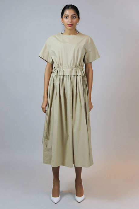 WANTS Beige Cotton Maxi Dress