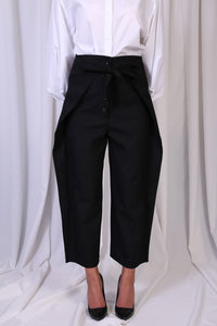 Black Front Wrap Pants