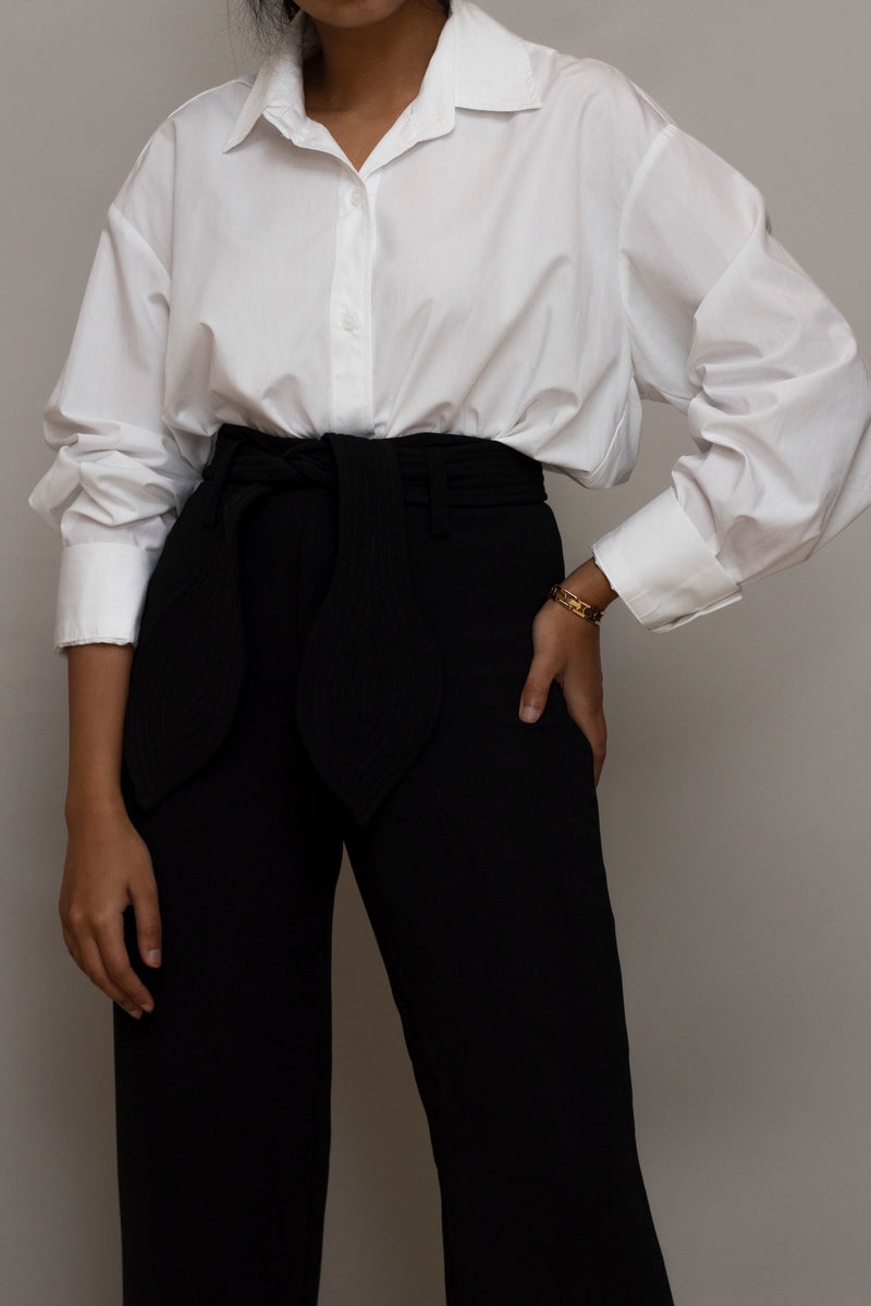 White Basic Button Shirt