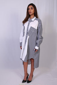 WANTS Black and White Check Shirtdress