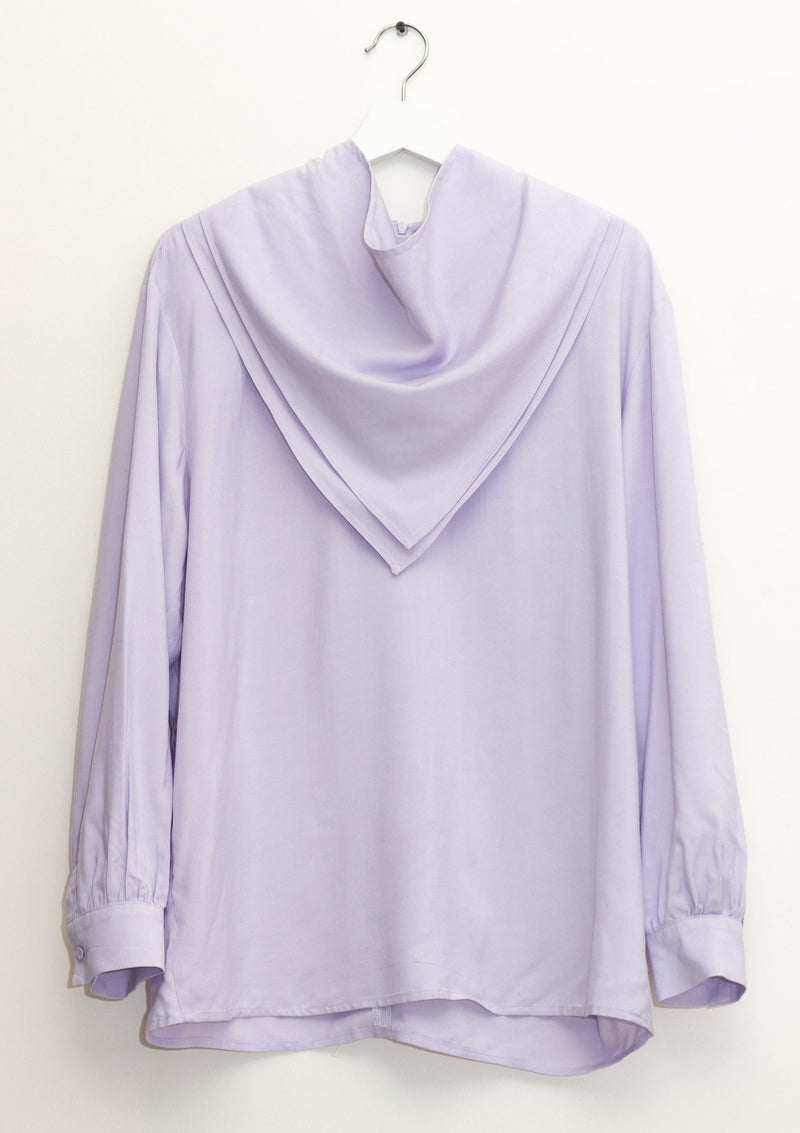 Lavender Blouse with Detachable Scarf