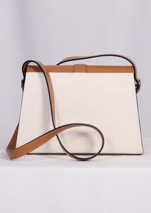 WANTS Cream Color Block Shoulder Bag