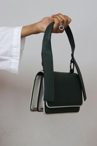 Dark Green Flap Handbag