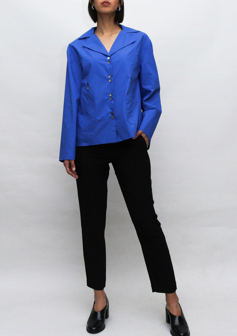 Royal Blue Wide Cut Blouse