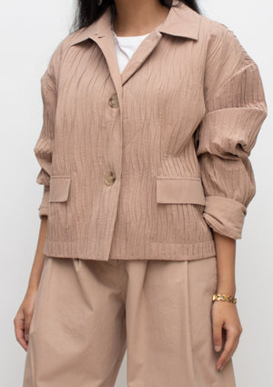 Canyon Crinkle Pleated Jacket