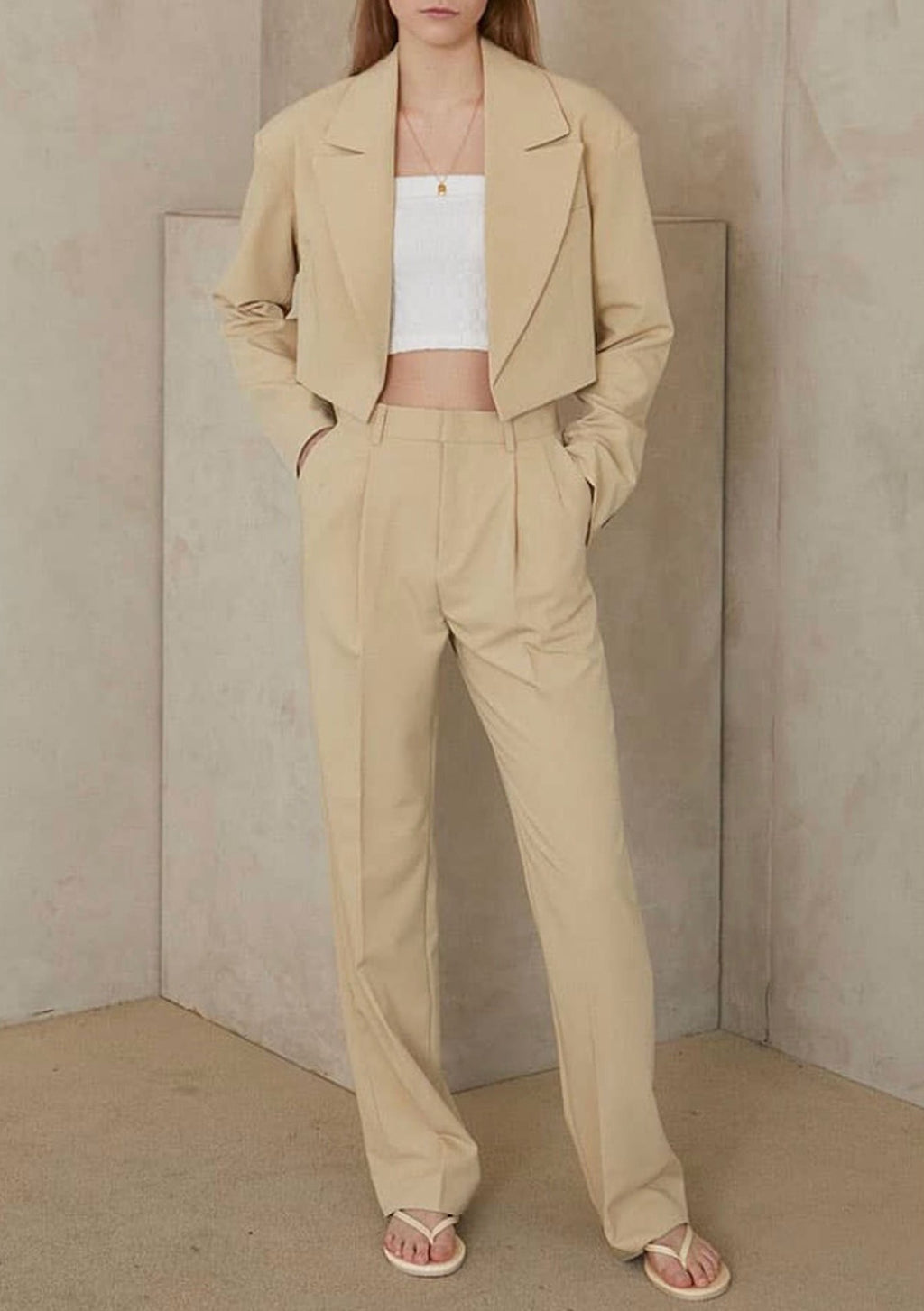 Straight Leg Suit Pants in Mellow