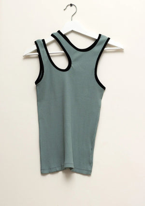 Sage Green Cut-out Tank Top