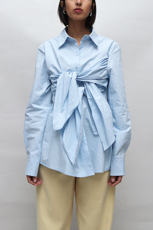 Light Blue Tie Detailed Shirt