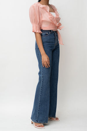 Blue Flare High Rise Jeans