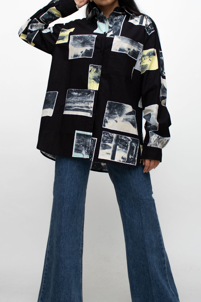 Photos Print Oversized Shirt