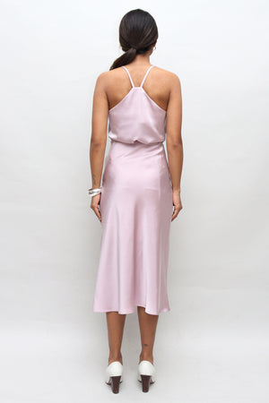 Lilac Silk Slip Skirt