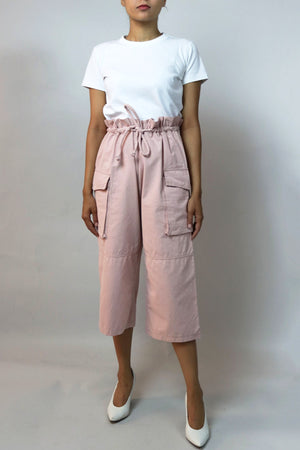 Pink High Waisted Cargo Pants