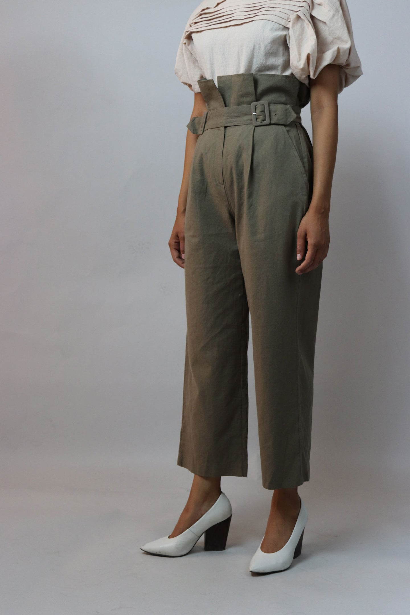 Brown High Waisted Loose Pants