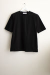 Padded Short Sleeves T-Shirt in Black