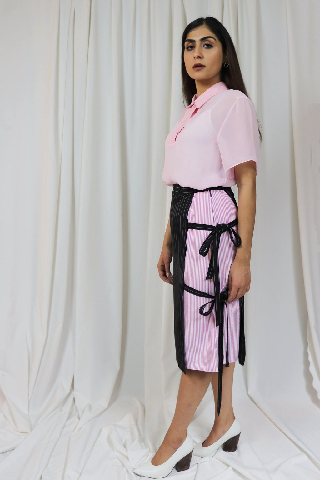 Rocket x Lunch Pink Chiffon Polo Top