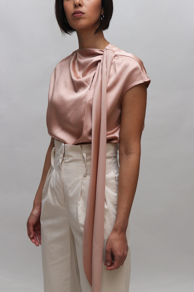 Copper Silk Muffler Blouse