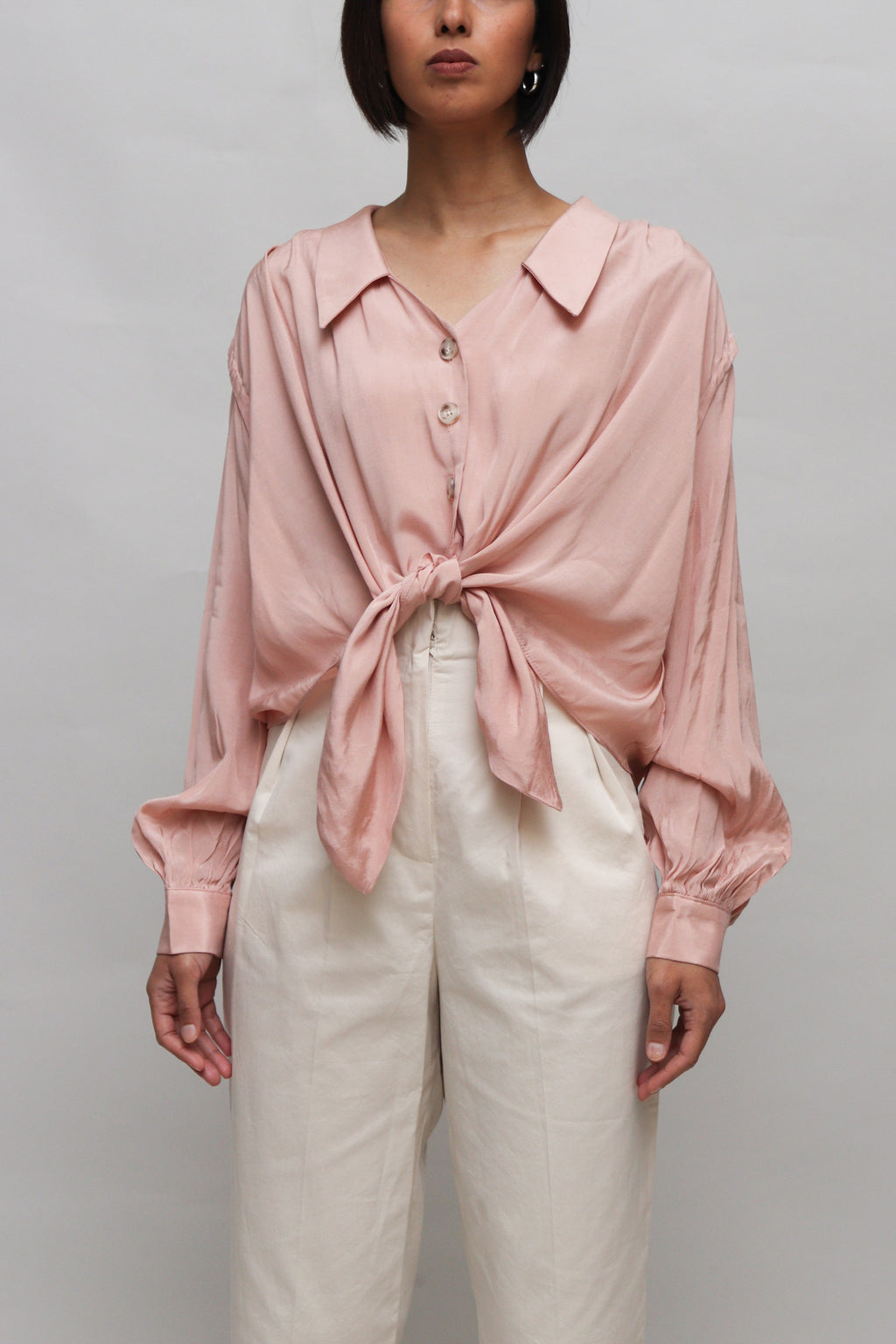 Pink Flowy Tied Top