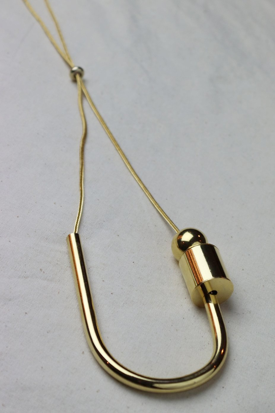 Maslo Jewelry Chock a block necklace gold