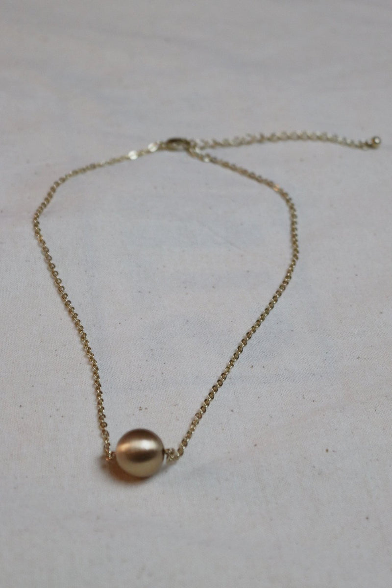 Lou Gold Ball Necklace
