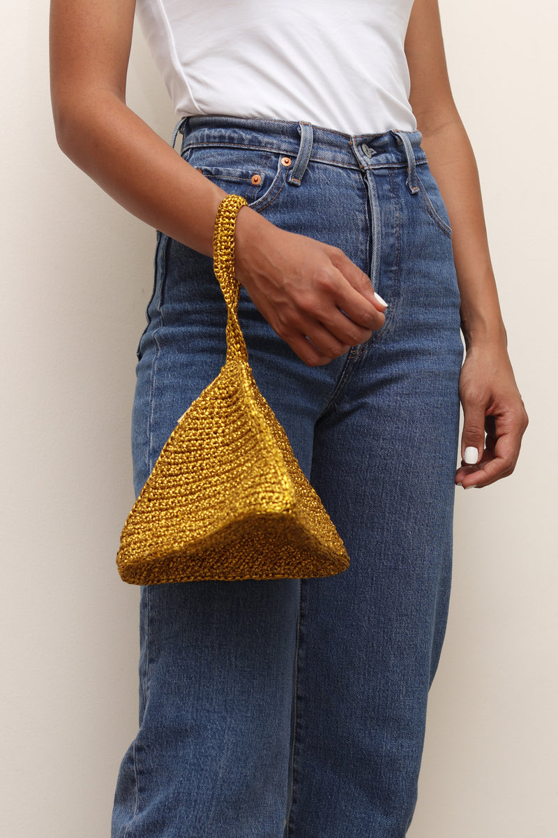 Gold Bermuda Clutch