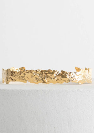 Gold Abstract Fitted Choker