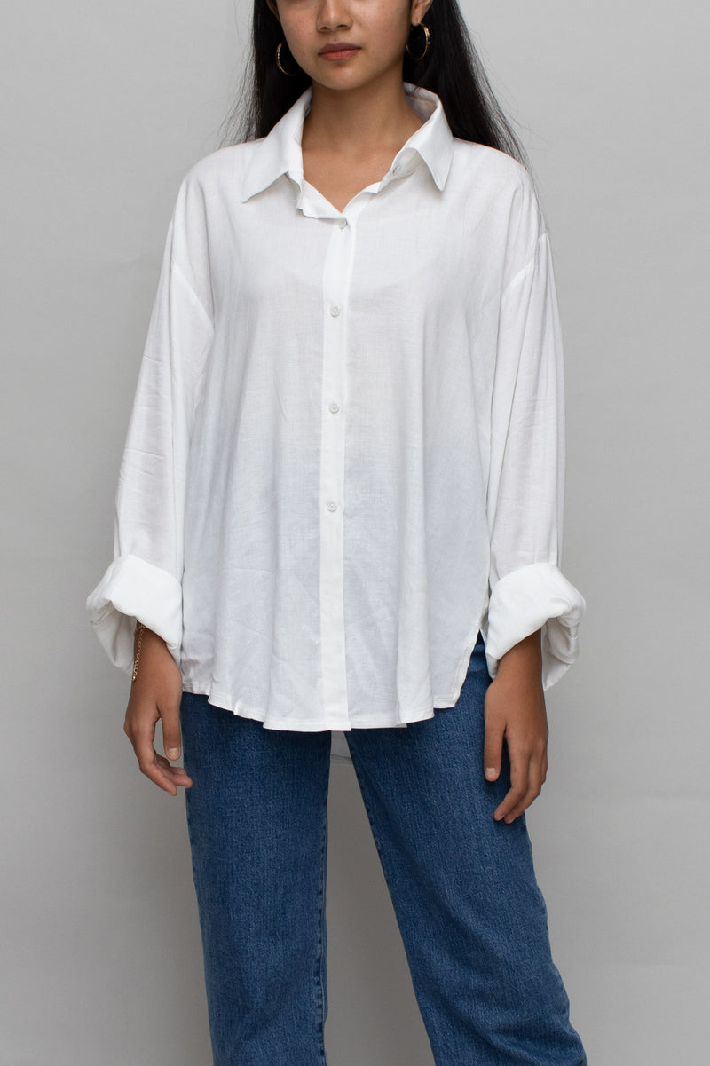 White Button Down Essential Blouse
