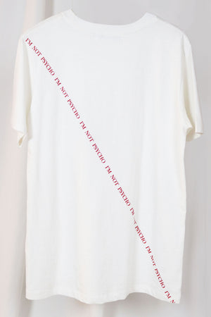 WANTS Don't Panic Text White T-shirt