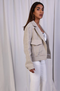 WANTS Light Beige Linen Jacket