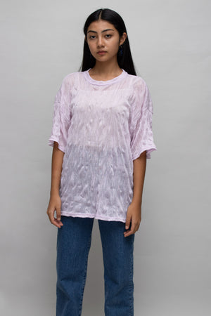 Lavender Textured Sheer T-shirt