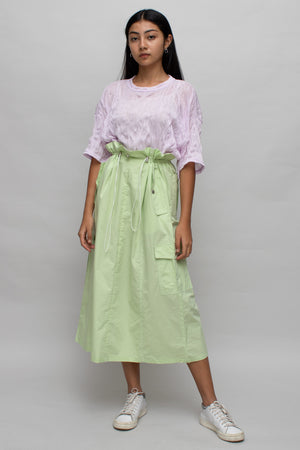 Pastel Green High Waist Midi-skirt