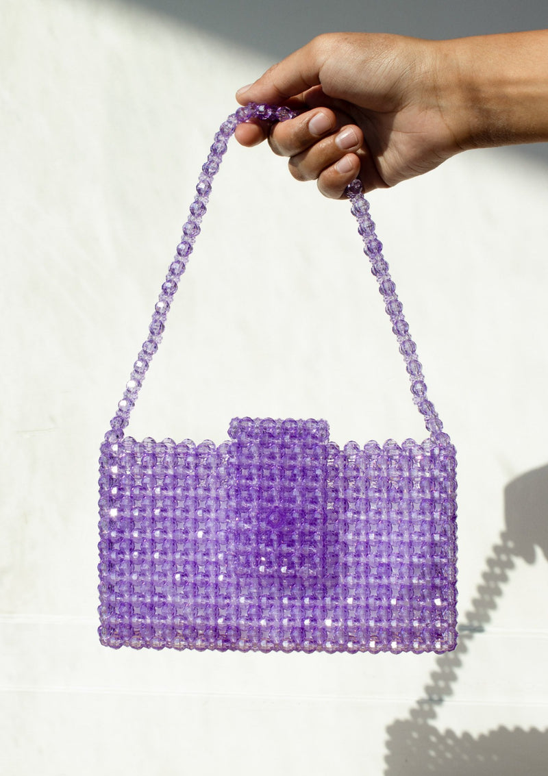Eren Orchid Beaded Bag