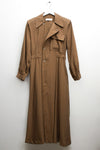 Soft Brown Trench Style Dress