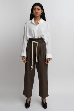 Charcoal High-Waisted Pants