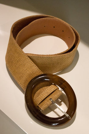 Round Buckle Canvas Belt